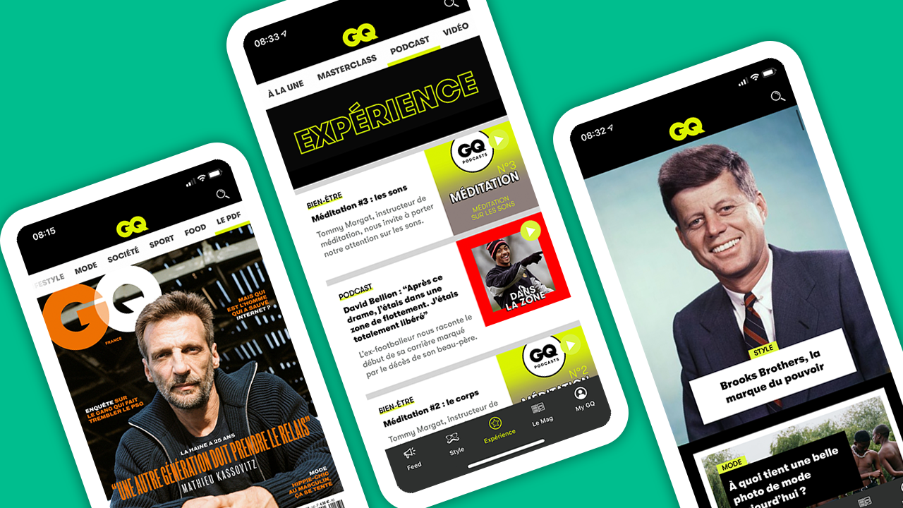 GQ France App on Screens